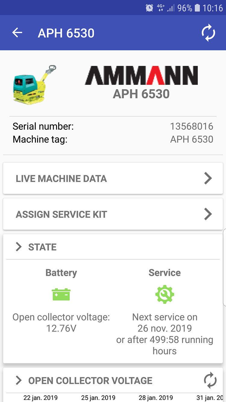 Ammann-Service-Link-screenshot-Service-app-machine-overzicht-