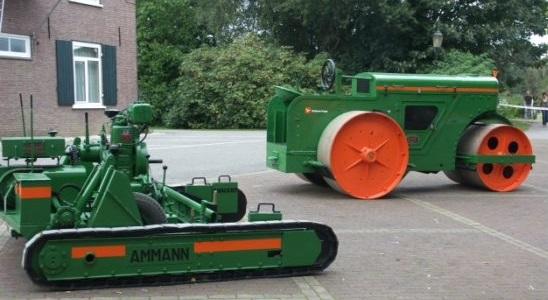 Europa's oudste werkende asfaltmachine van fabrikant Ammann gaat worden tentoongesteld in het nieuwe wegenbouwmuseum
